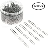JPSOR Paper Clip—600 28/33/50mm Silver Paper Clips, for Office and Personal Document Organization (Silver)