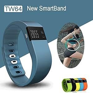 ARBUYSHOP TW64 Bluetooth Pulsera 4.0 Pulsera Saludable impermeable SmartBand fitness Rastreador podómetro para Samsung Android para iOS iphone, SmartBand amarilla