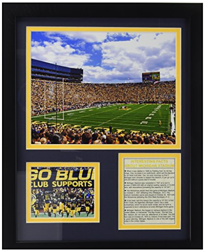 Legends Never Die University of Michigan Stadium The Big House Framed Photo Collage, 11 by 14-Inch ()