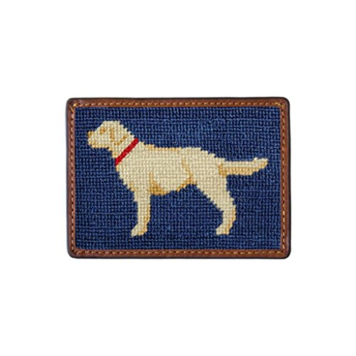 (Yellow Lab Needlepoint Credit Card Wallet by Smathers & Branson)