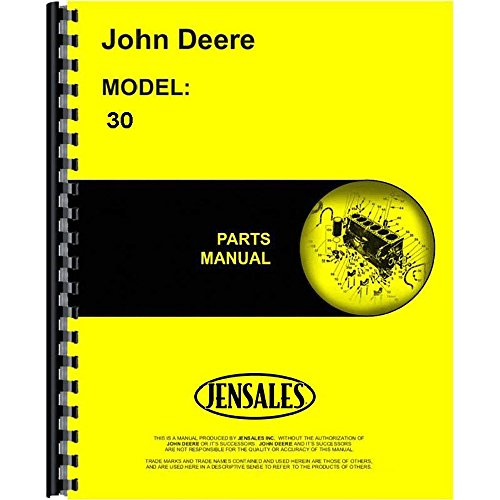 New Parts Manual For John Deere Combine 30 (Pull Type, 7 Foot Cut) ()