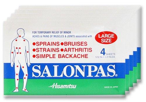 Salonpas grandes taches Pain Relief - 5 PAK de 4 = 20 au total - SAVE $ $ $!