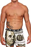 Exist Men's Boxers $100 Dollar Bill: Green (Small)