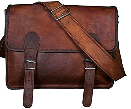 75abf486ad2 Image Unavailable. Image not available for. Color  Right Choice Leather  Messenger Satchel Laptop School Bag ...