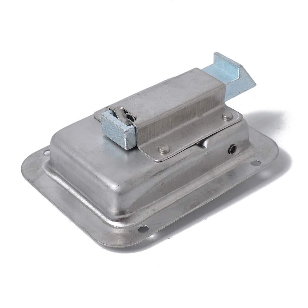 Gonee 2PCS Acciaio Inox Paddle Serratura di Portello Fermo Maniglia e Chiave Compatibile per Rimorchio Caravan TruckMengonee