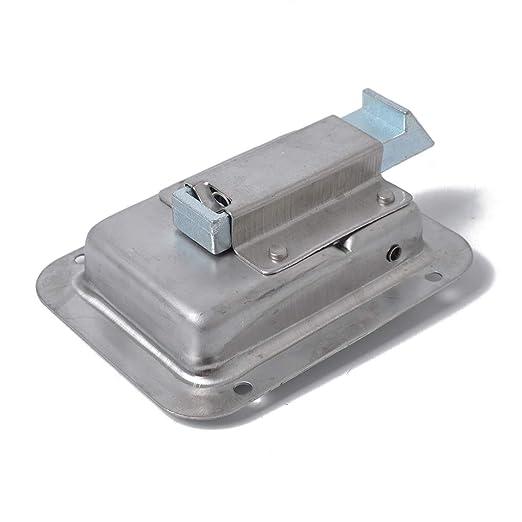 Republe 2 Piezas de Acero Inoxidable Puerta Paddle Bloqueo Tirador del pestillo y Key Compatible para Remolque Caravana de Camiones