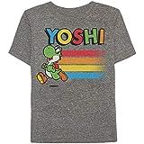 Jumping Beans Boys 4-10 Nintendo Super Mario Bros. Yoshi Heathered Graphic Tee 6 Charcoal Snow