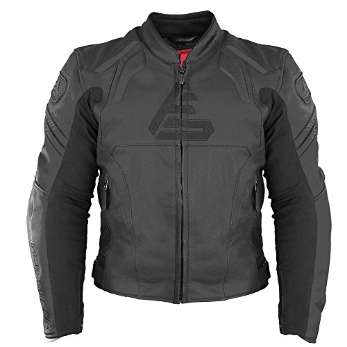 Fieldsheer Unisex-Adult Shadow Leather Jacket (Black, 42)