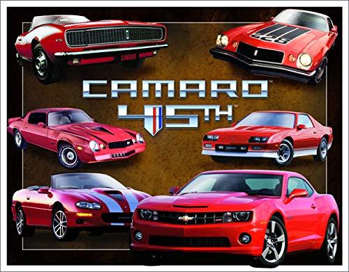 Desperate Enterprises Camaro 45th Anniversary Tin Sign, 16