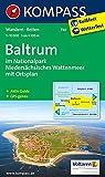 Baltrum im Nationalpark Niedersächsisches Wattenmeer: Mit Ortsplan, Aktiv Guide u. Reitwegen. GPS-genau. 1:10000 (KOMPASS-Wanderkarten, Band 730)