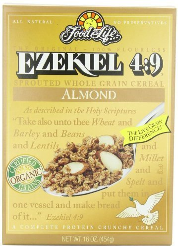 Food For Life Ezekiel 4:9 - Organic Almond Granola Cereal, Vegan, 16 oz (Pack of 4) by Ezekiel by Ezekiel