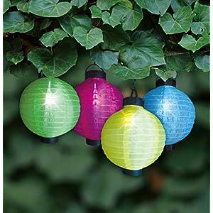 Fashionlite Solar Powered Lights Chinese Lanterns,white,4-Pack