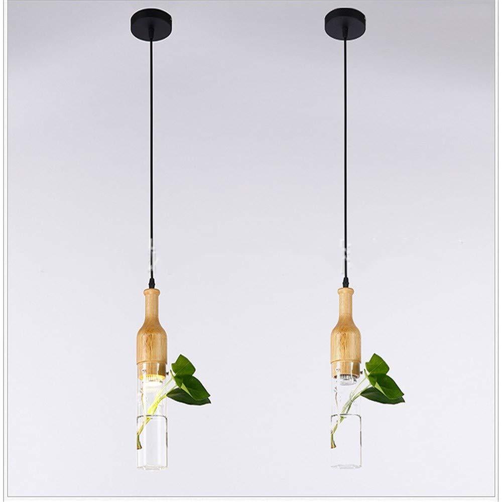 Moderne,minimalistische Kronleuchter,kreative LED-Glasdeckenleuchte,hölzerne Deckenleuchte für Schlafzimmer Wohnzimmer Esszimmer,A
