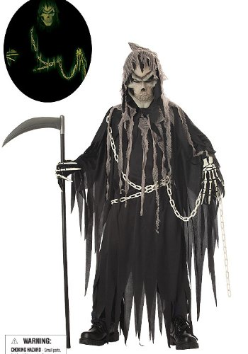 California Costumes Toys Mr. Grim, X-Large - Reaper Costume For Halloween
