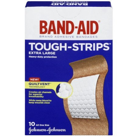 Band-Aid Tough-Strips Bandages, Extra Large 10 ea Pack of 3 - Band Strips Sheer Aid
