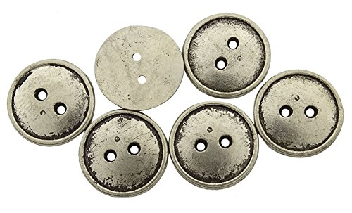 140 Round Embellishment Metal Button Wholesale Flat 2 Hole DIY Sewing - Buttons Wholesale Sewing
