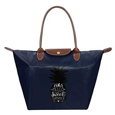 50%OFF Fanboupout Sweet Summer Pineapple Large Tote Bags Multifunction Waterproof Shoulder Handbags With Zipper