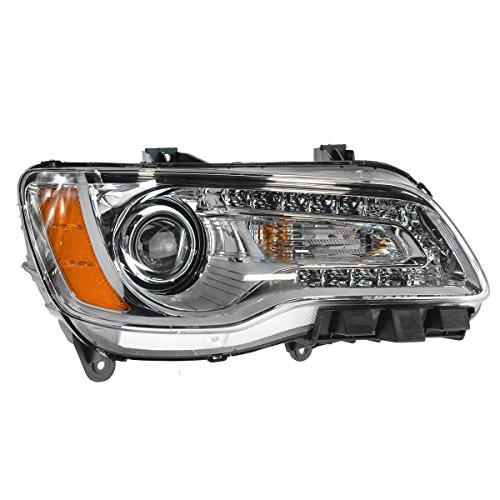 Headlight Halogen Chrome Bezel Passenger Side Right RH for 11-14 Chrysler 300