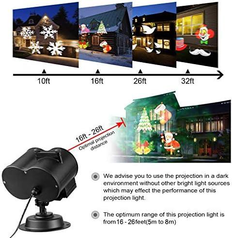 [Verbesserte Version] Projektionslampe,TECKCOOL LED Licht Projektor mit 12 Folien,wasserdicht IP44 Fernbedienung Bunte fließende Wasser Ripple Effekte für Halloween Weihnachtsfeiern Schlafzimmer etc