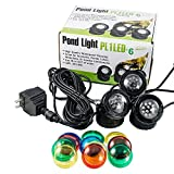 JeBao Submersible 3 pcs 12-Led Pond Lights for Underwater Fountain Pond Water Garden