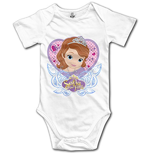 Zhanzy Sofia The First 6 Baby's Boys Girls Kids Creeper Romper Bodysuits Jumpsuits Size 6 M US (Kids Minion Suit)
