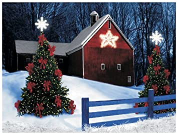 Amazon.com: Ohio Wholesale Radiance Lighted Barn Star Canvas Wall ...