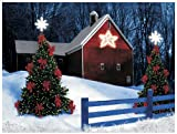 Wholesale Decor Ohio Wholesale Radiance Lighted Barn Star Canvas Wall Art