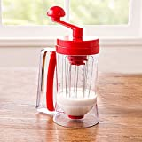 THEE Cake Batter Dispenser and Mixing System Mix for Waffles Pancakes Cupcakes Muffins