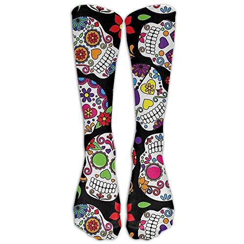 Dead Sugar Skull Athletic Tube Stockings Women's Men's Classics Knee High Socks Sport Long Sock One Size