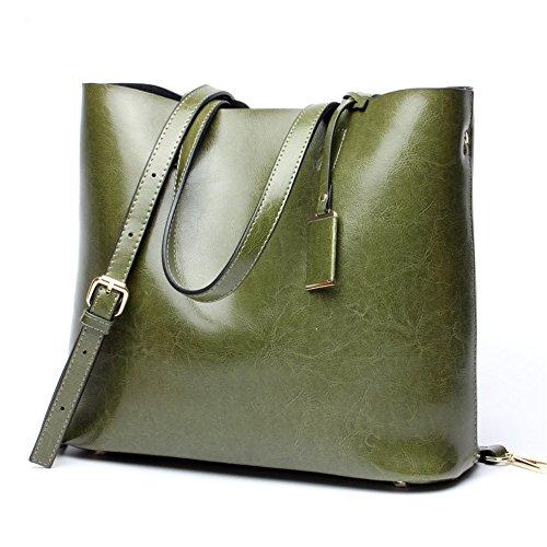 Xoxo Multifunzionale Donna Spalla Tote Bag colore Verde Borsa Portatile Grande Verde Semplice Da Capacità twtdBn4qrW
