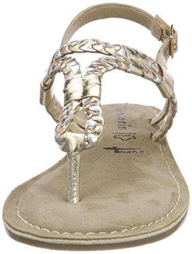 Goldgold Multi 744 Tamaris für Damen Metallic Sandaletten 28159 qqwTUI