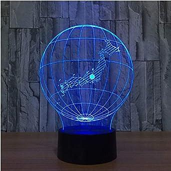 Valentin Nightlight Led Cadeau Visuel Saint 7 3d Usb Globe Terrestre dhBsQrCtx
