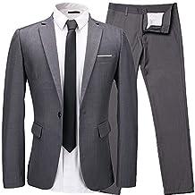 Men's blazer Slim Fit a button suit 2 pieces suit + pants for working /wedding/party