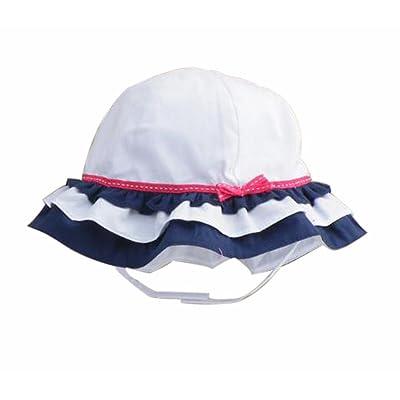 Été bébé Fille Casquettes Coton Chapeau de soleil pour 2-3 ans blanc