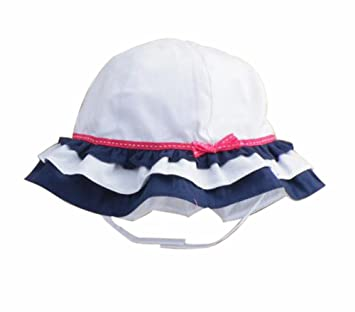 a31d526db4f Image Unavailable. Image not available for. Color  Summer Baby Girl Caps  Cotton Sun Hat For 2-3 Years Baby White