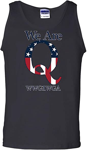 Tee Hunt Burning Q Anonymous Tank Top WWG1WGA Deep State Great Awakening Sleeveless