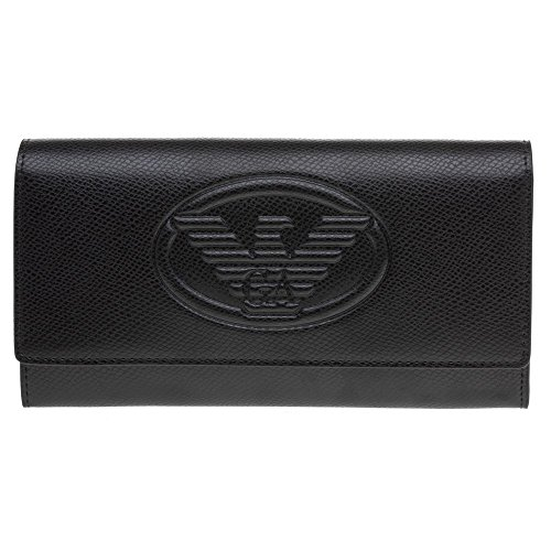 Emporio Armani Embossed Logo Womens Purse Black by Emporio Armani