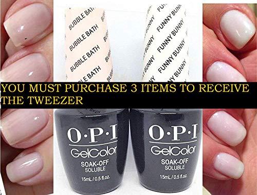 Gel French Manicure Kit B Set GC H22 Funny Bunny+GC S86 Bubble Bath +Free professional tweezer -