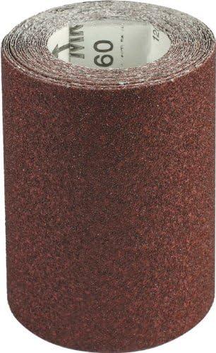 Carta Abrasiva Spaziata al Corindone Mrd H:115mm Grana 100 in Rotolo 5 Mt Maurer
