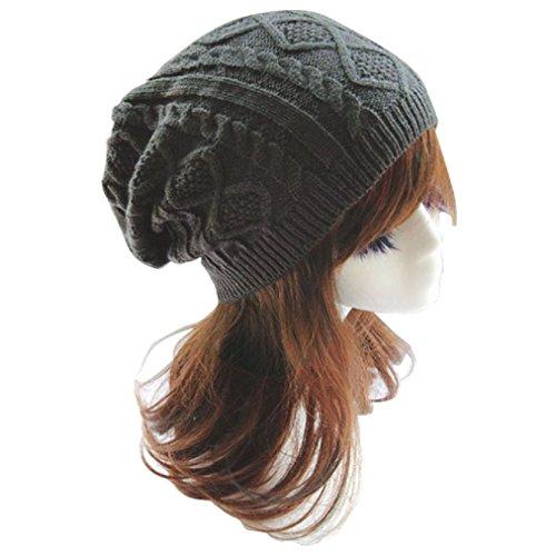 OvedcRay Knit Men's Women's Baggy Beanie Oversize Winter Hat Ski Slouchy Chic Cap Skull ()