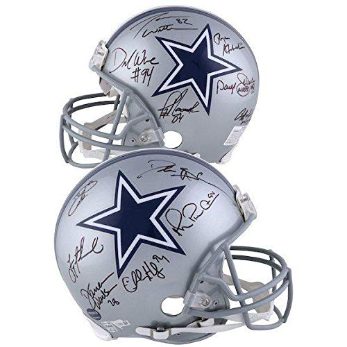 DALLAS COWBOYS Legends Autographed 12 Signatures Proline Helmet FANATICS LE 4/24 - Fanatics Authentic Certified