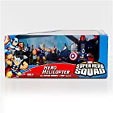 Hasbro Marvel Superhero Squad Hero Helicopter with Figures45; Captain America and Thor