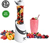 Personal Blender Single Serve For Smoothies with Portable Travel Sport Bottle by Moss & Stone (300 Watts)