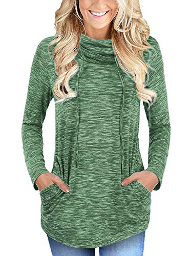 cowl neck top long sleeve - 2