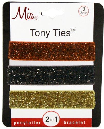 Миа Тони связи волос с блестками, оранжевый, коричневый, золото