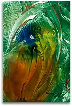 Premium - Lienzo textil (80 x 120 cm), diseño de flores en la naturaleza, cuadro de alta calidad sobre bastidor, imagen en alta definición en papel de vellón de alta calidad