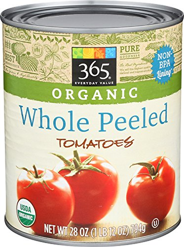 365 Everyday Value, Organic Whole Peeled Tomatoes, 28 oz (Organic Canned Tomatoes)