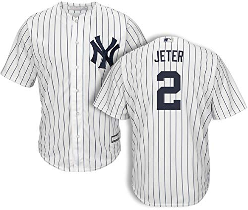 Men's #2 Derek Jeter New York Yankees Home Jersey XL White