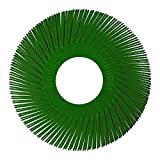 Dedeco Sunburst - 6'' TA Radial Bristle Discs - 1'' Arbor - Industrial Thermoplastic Rotary Cleaning and Polishing Tool, Extra-Coarse 50 Grit (40 Pack)