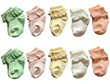 Toptim Baby Girls Socks Princess Style Sock Lace Flower Ankle Socks 10 Pairs (3-12M)